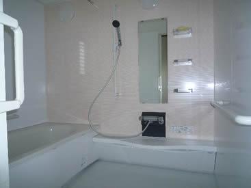 将来の事を考え、入り口と脱井場を大きく取ったお風呂です。